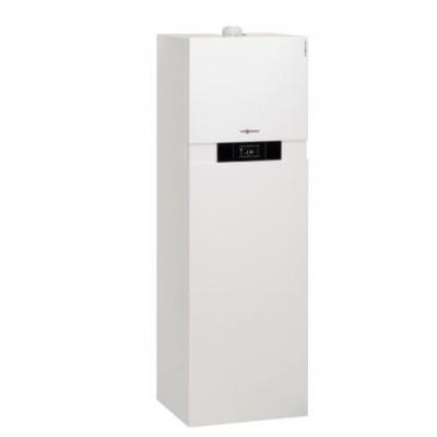 Компактный газовый конденсационный котел до 19 квт с приготовлением воды гелиоустановкой Viessmann Vitodens 242-F  B2UB041