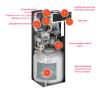 Газовый котел Viessmann Vitodens 222 F конденсационный 32 кВт с баком 100 л